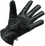 Zwarte Leren Handschoenen Heren Dames_