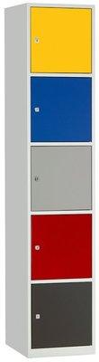 Metalen Locker 5 deurs Gekleurd